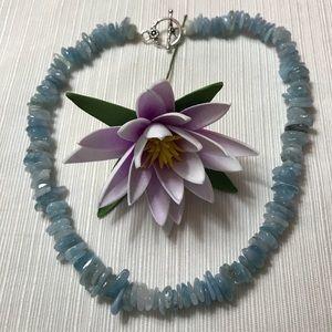 Beautiful Aquamarine gemstone necklace